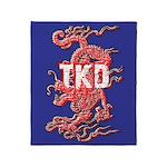 TKD Dragon Throw Blanket