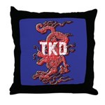 TKD Dragon Blue Throw Pillow