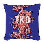 TKD Dragon Woven Throw Pillow