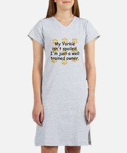 Well Trained Yorkie Owner Women's Nightshirt