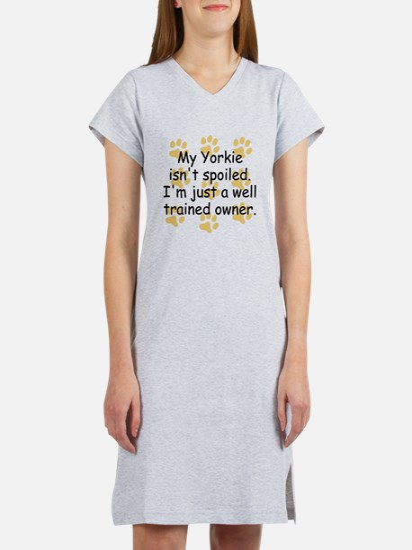 Well Trained Yorkie Owner Women's Nightshirt