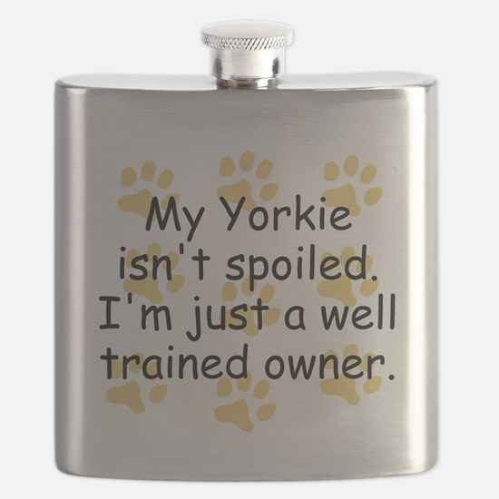 Well Trained Yorkie Owner Flask