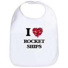 I love Rocket Ships Bib