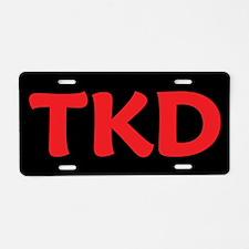 Taekwondo TKD Aluminum License Plate