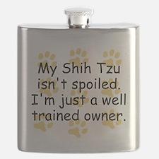 Well Trained Shih Tzu Owner Flask