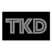 White Lines TKD Decal