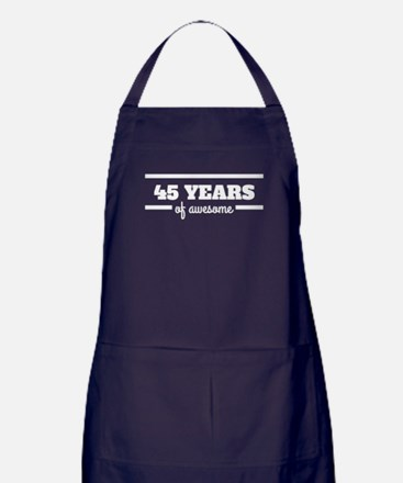 45 Years Of Awesome Apron (dark)
