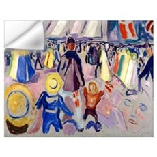 Edvard Munch - 17th of May, Norwegian Town Wall Decal