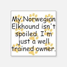Well Trained Norwegian Elkhound Owner Sticker
