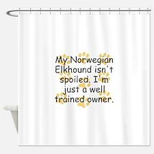 Well Trained Norwegian Elkhound Owner Shower Curta