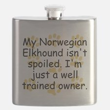 Well Trained Norwegian Elkhound Owner Flask