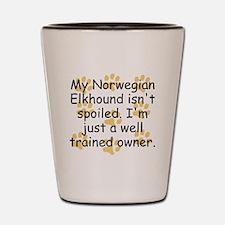 Well Trained Norwegian Elkhound Owner Shot Glass