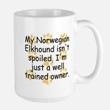 Well Trained Norwegian Elkhound Owner Mugs