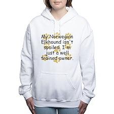 Well Trained Norwegian Elkhound Owner Women's Hood