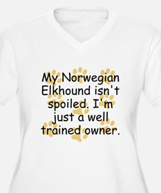 Well Trained Norwegian Elkhound Owner Plus Size T-