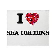 I love Sea Urchins Throw Blanket