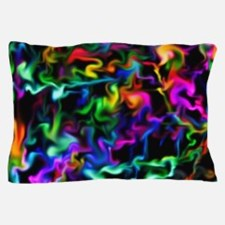 Rainbow Acid Swirls Pillow Case