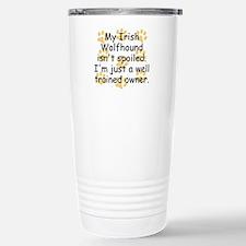 Well Trained Irish Wolfhound Owner Travel Mug