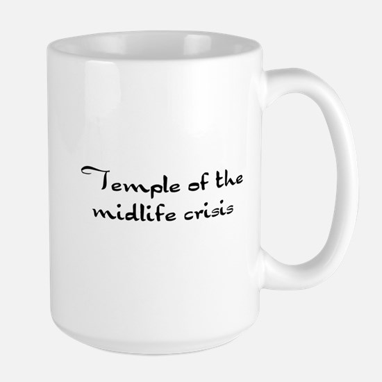 Temple of the midlife crisis Large Mug