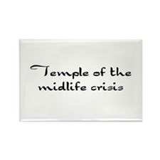 Temple of the midlife crisis Rectangle Magnet