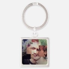Michael Clifford Photoshop Collage Square Keychain