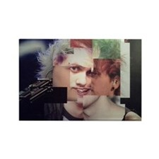Michael Clifford Photoshop Collag Rectangle Magnet