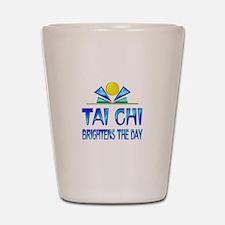 Tai Chi Brightens the Day Shot Glass