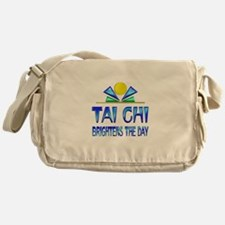 Tai Chi Brightens the Day Messenger Bag