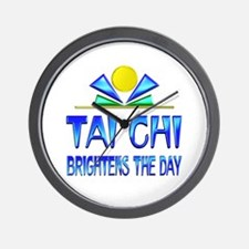 Tai Chi Brightens the Day Wall Clock
