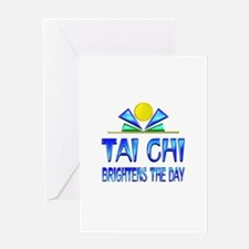 Tai Chi Brightens the Day Greeting Card