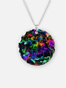 Rainbow Acid Swirls Necklace