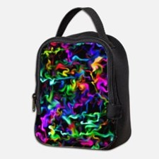 Rainbow Acid Swirls Neoprene Lunch Bag