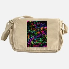 Rainbow Acid Swirls Messenger Bag