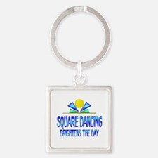 Square Dancing Brightens the Day Square Keychain