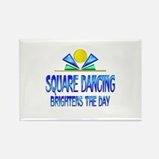 Square Dancing Brightens the Day Rectangle Magnet