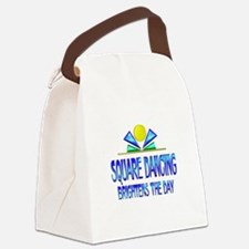 Square Dancing Brightens the Day Canvas Lunch Bag