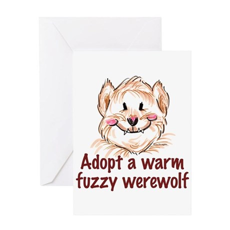 adopt a werewolf Greeting Card
