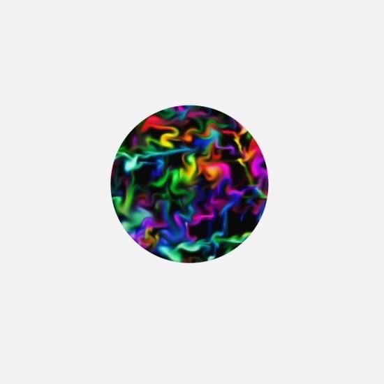 Rainbow Acid Swirls Mini Button (100 pack)