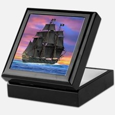 Black Sails of the Caribbean Keepsake Box