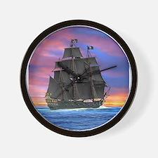 Black Sails of the Caribbean Wall Clock