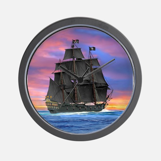 Black Sails of the Caribbean Wall Clock