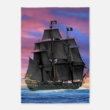 Black Sails of the Caribbean 5'x7'Area Rug
