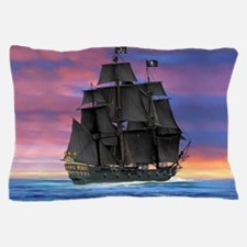 Black Sails of the Caribbean Pillow Case