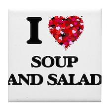 I love Soup And Salad Tile Coaster
