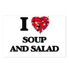 I love Soup And Salad Postcards (Package of 8)