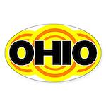 Ohio Radiant Oval Sticker