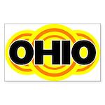 Ohio Radiant Rectangle Sticker
