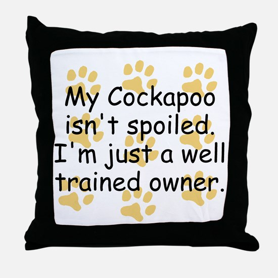 Well Trained Cockapoo Owner Throw Pillow