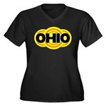 Ohio Radiant Women's Plus Size V-Neck Dark T-Shirt