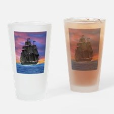 Black Sails of the Caribbean Drinking Glass